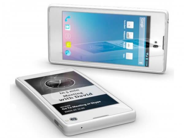 電子ペーパー搭載のデュアル画面スマートフォンが発売 | 山根康宏のワールドモバイルレポート