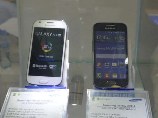 Galaxy Ace StyleとGalaxy Ace 4