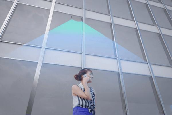 ガラスアンテナによる電波放出イメージ