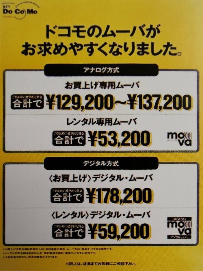 Figure 2 > Purchase-based posters (from NTT DoCoMo's 10-year history of NTT DoCoMo, 2002)