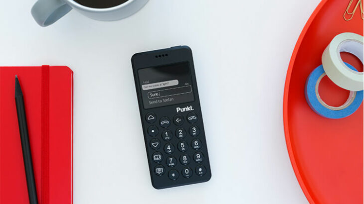 ミニマリストのための新世代フィーチャーフォン「Punkt. MP02 4G」、+Styleにて8月8日より販売開始