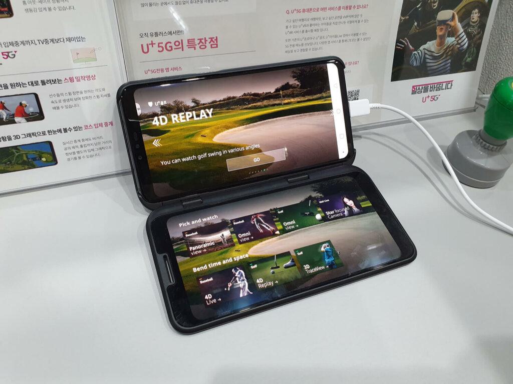 LG V50 ThinQ。デュアルディスプレイをつけた姿