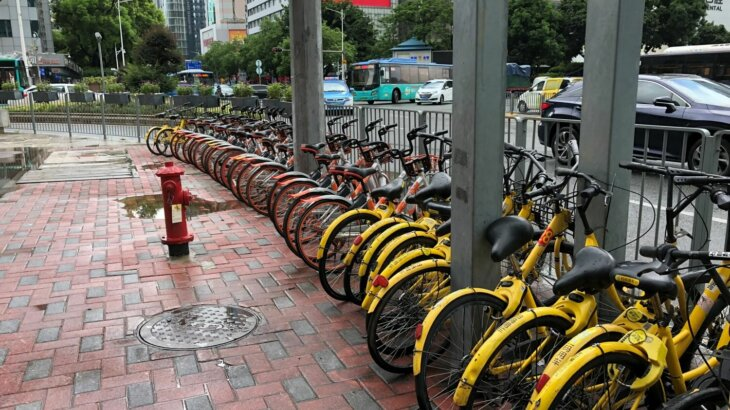 中国ではシェアサイクルが街中にあり、どこでも借りられるが…、ちゃんと指定通り返却しているかで信用評価されてしまいます