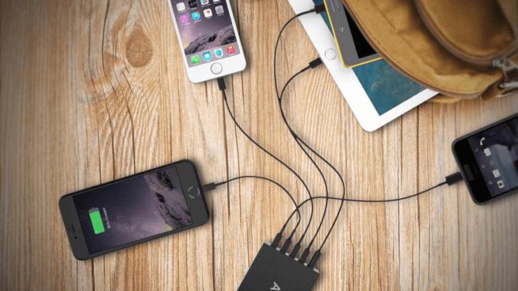 【8/27まで30%OFF】最大5台同時に急速充電可能!Quick Charge 3.0搭載のUSB急速充電器「AUKEY PA-T15」