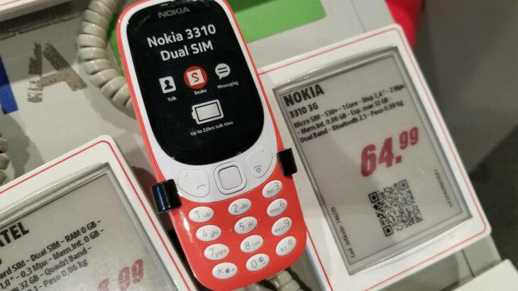 往年のノキアケータイの復刻モデルも話題だ(Nokia 3310 3G)