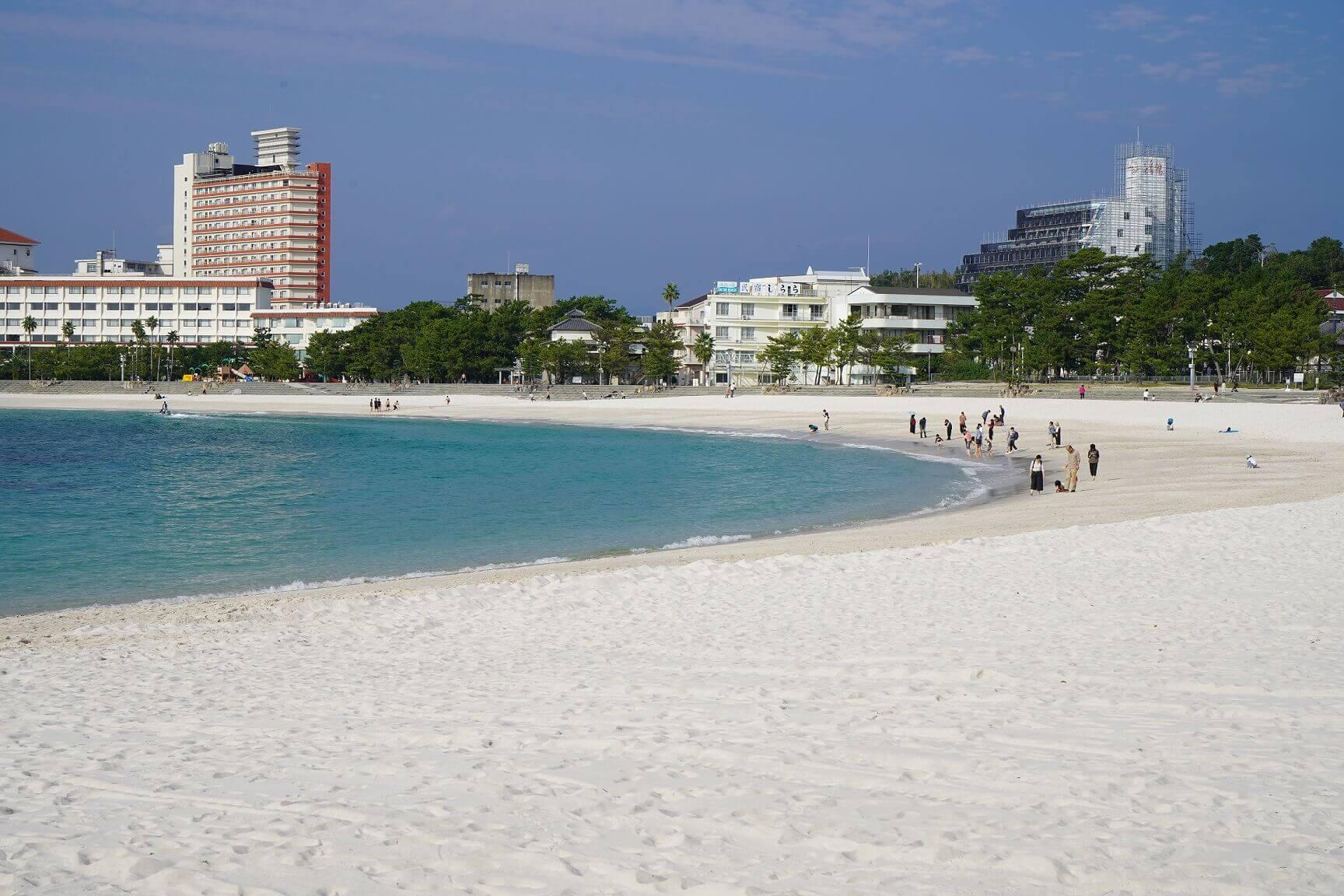 和歌山県白浜町の砂浜