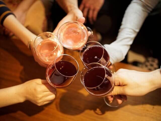 乾杯の様子