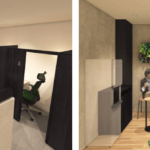 「STATION DESK」JR東日本のコワーキング型シェアオフィス、ブイキューブの「テレキューブ」を採用。セキュリティが確保されたブースで電話やWeb会議もできる
