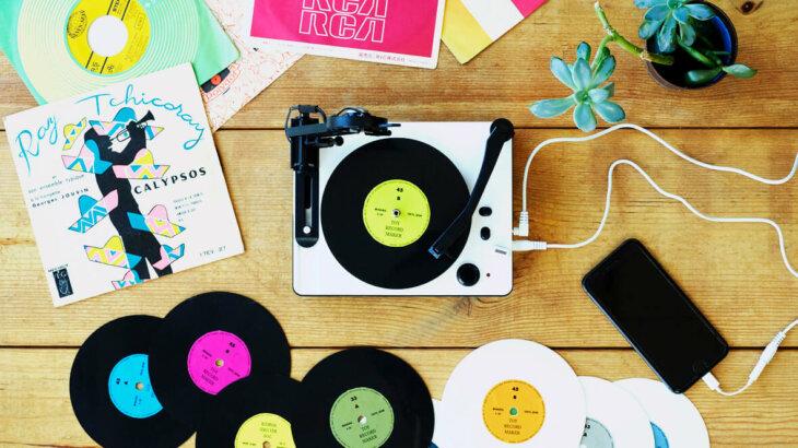 「大人の科学マガジン トイ・レコードメーカー」オリジナルの5インチサイズのレコードが付属。