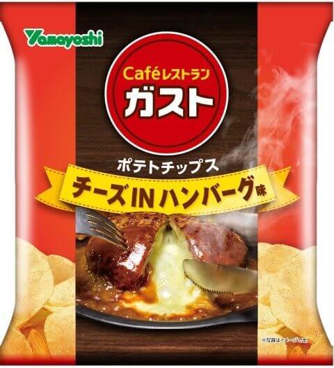 ポテトチップス「ガスト チーズINハンバーグ味」