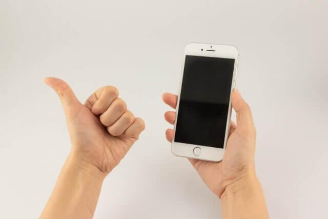 スマートフォンとGoodサイン