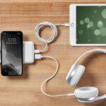 スマートワイヤレス充電器「Just Simple」最大で5台同時充電!吸盤でスマホに直接くっつけて使用できるポータブルバッテリー