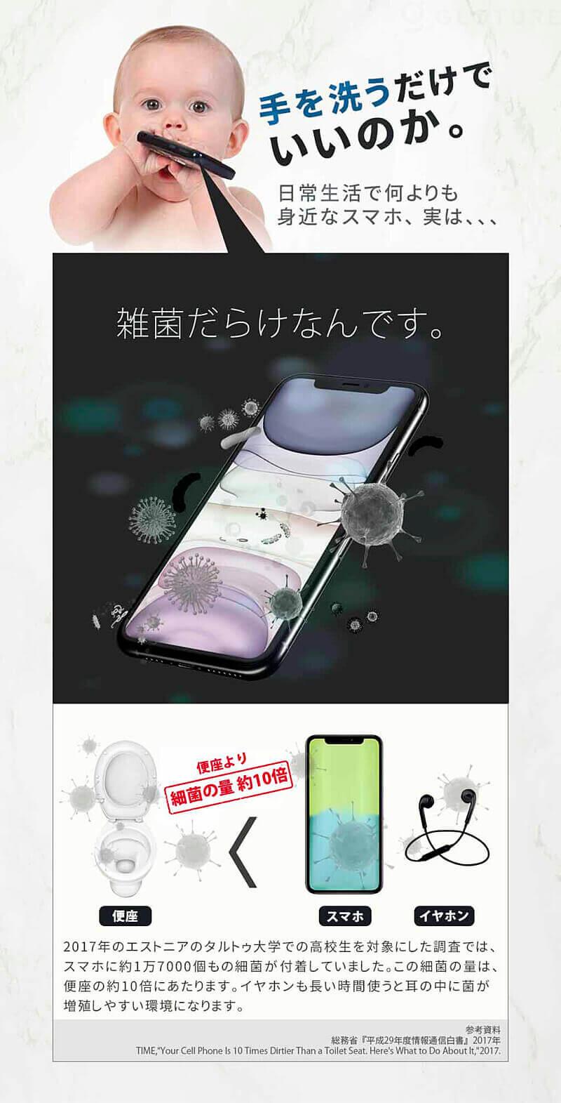 スマートフォン、実は雑菌だらけなんです