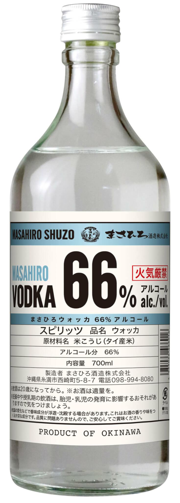 まさひろウォッカ66%アルコール