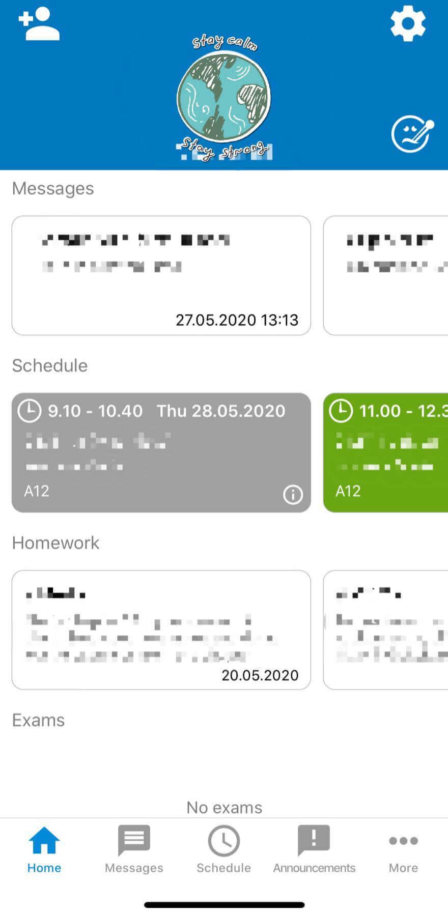 WILMA スマホアプリ画面