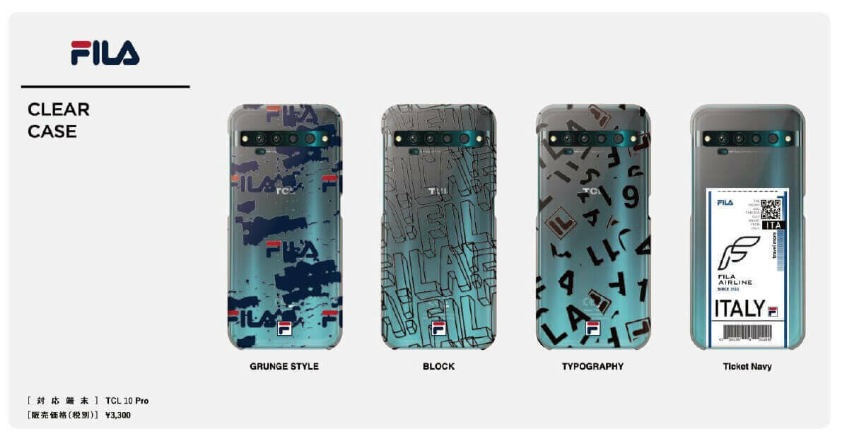 FILA – CLEAR CASE for TCL 10 Pro