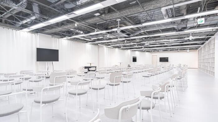 ホール:3台の固定カメラ設置