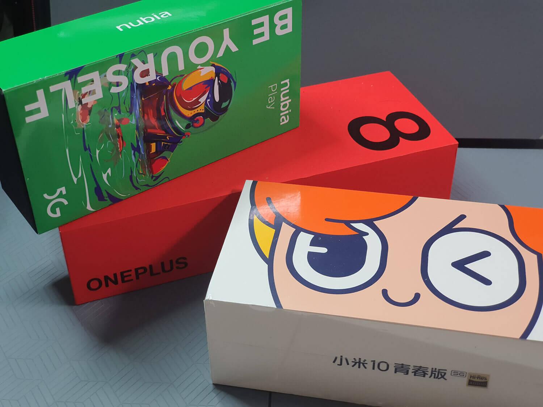毎週のように発売になる中国の5Gスマートフォン。パッケージも多彩だ