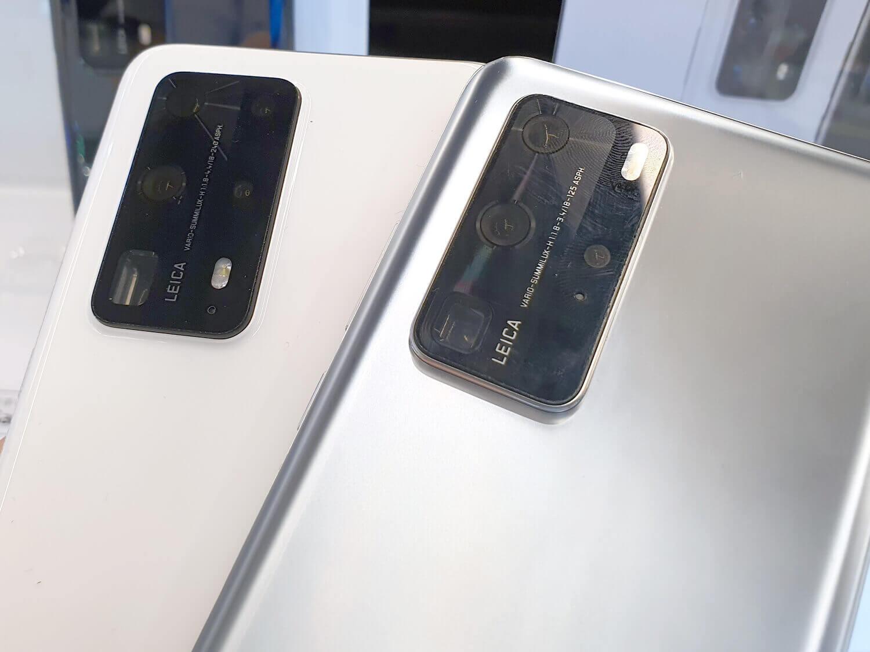 左がP40 Pro+。5眼カメラで10倍+3倍望遠カメラと、P40 Pro(右)より高性能