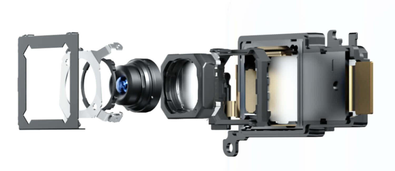 強力な手振れ補正が可能なジンバルを内蔵したX50 Proのカメラモジュール