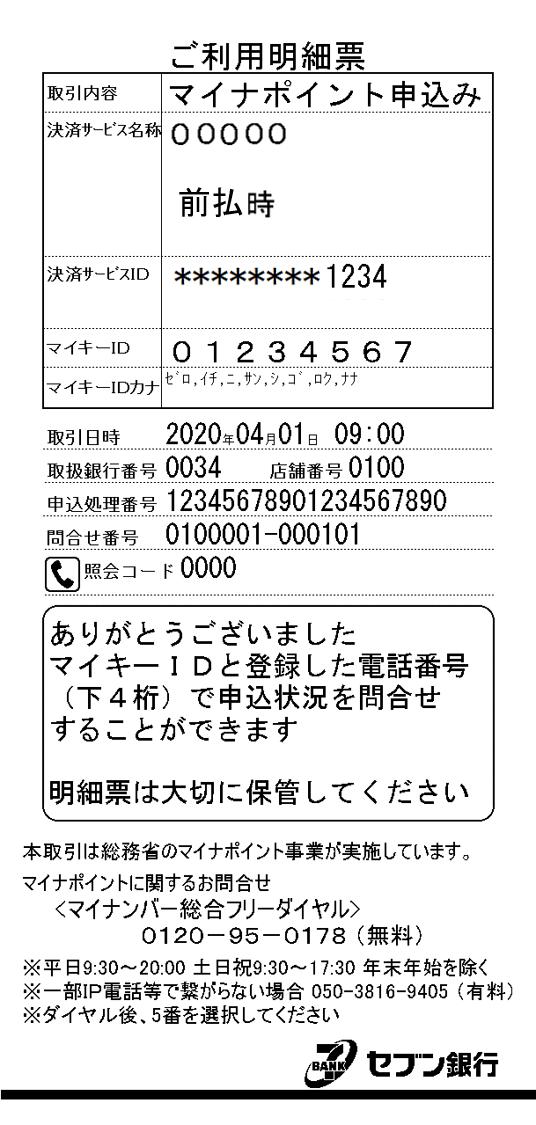 ご利用明細票(レシート)