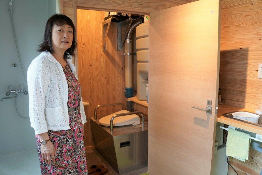 環境にやさしいバイオトイレ