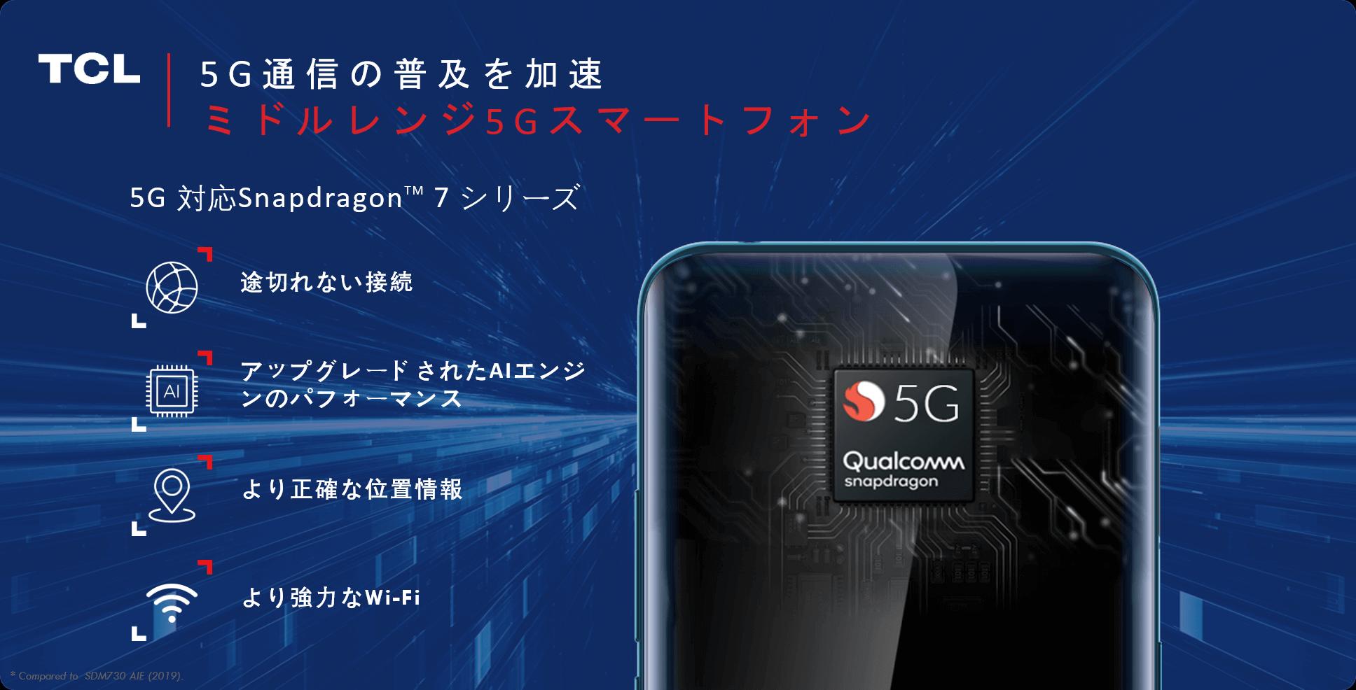 5G通信を搭載