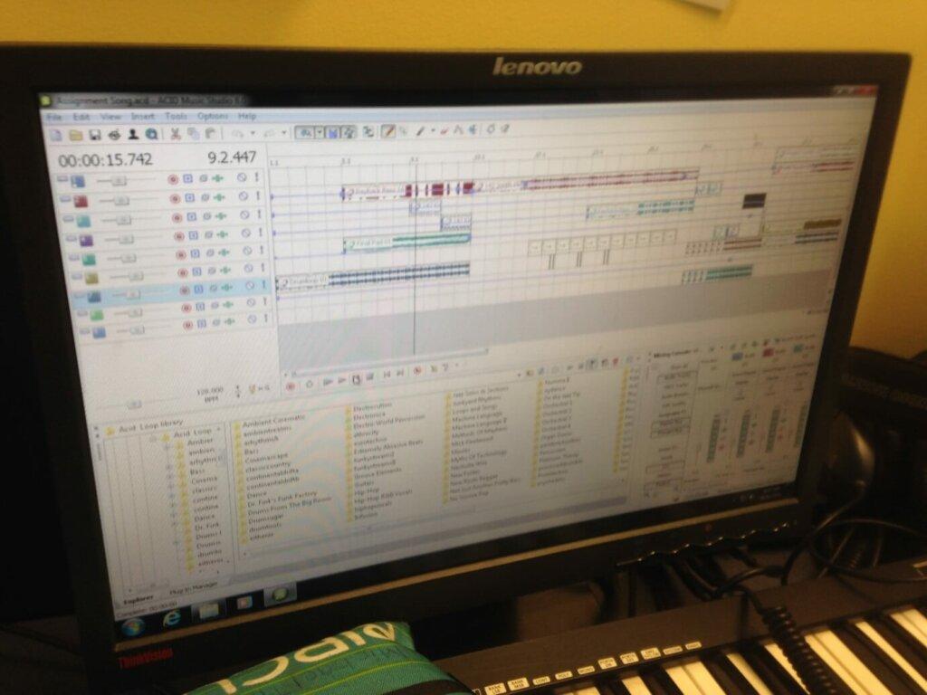 音楽の授業 音楽ソフトを用いて作曲