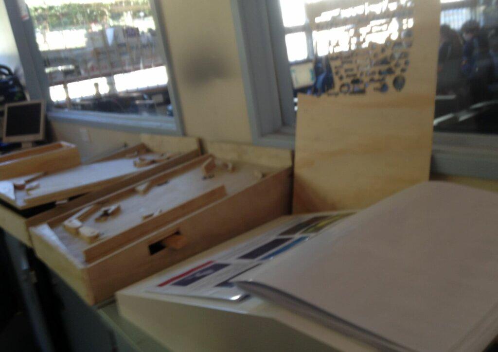 シドニーの中学校、技術(木工、3Dプリンタ)の授業
