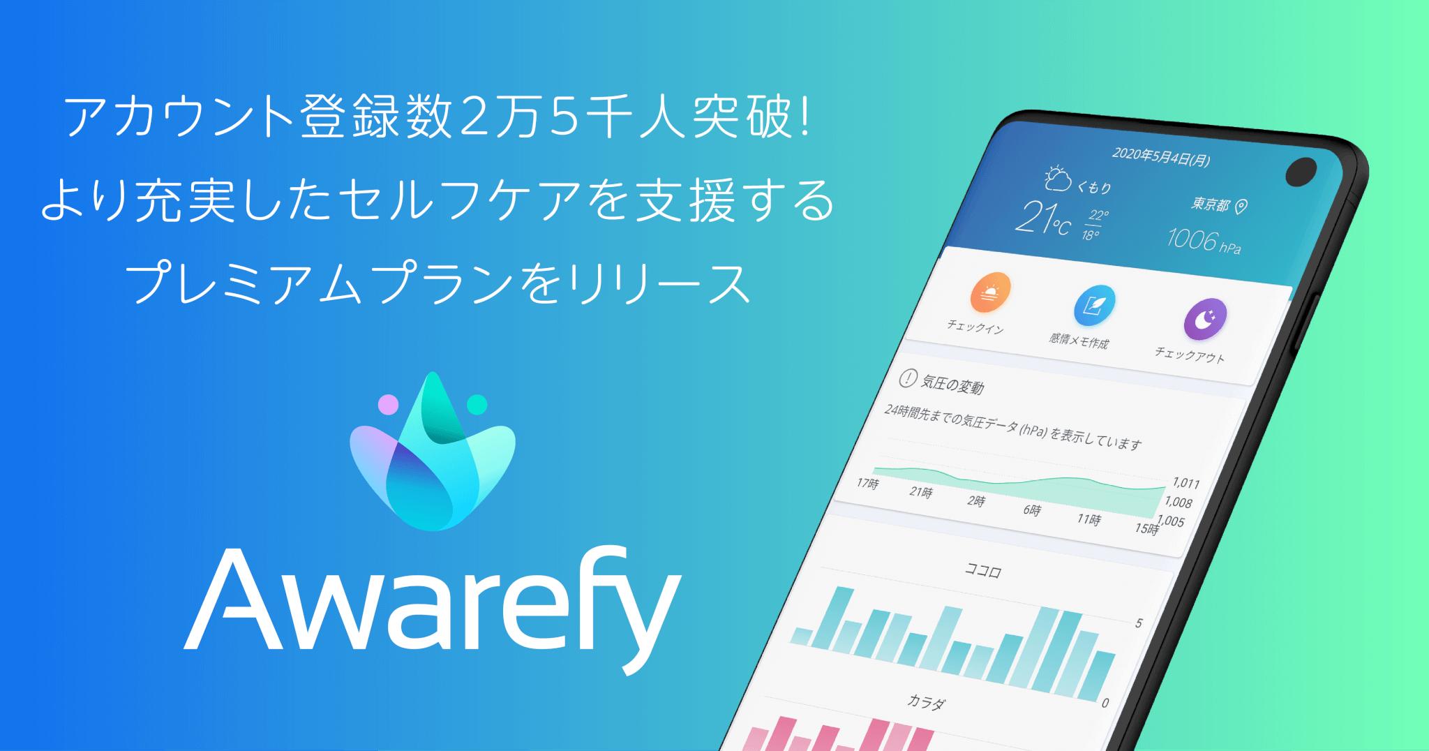 自分の感情を見える化する心のセルフケアアプリ「Awarefy」