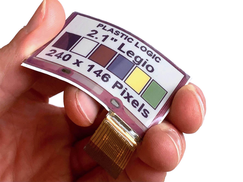 世界初のフレキシブルカラー電子ペーパー「Legio」