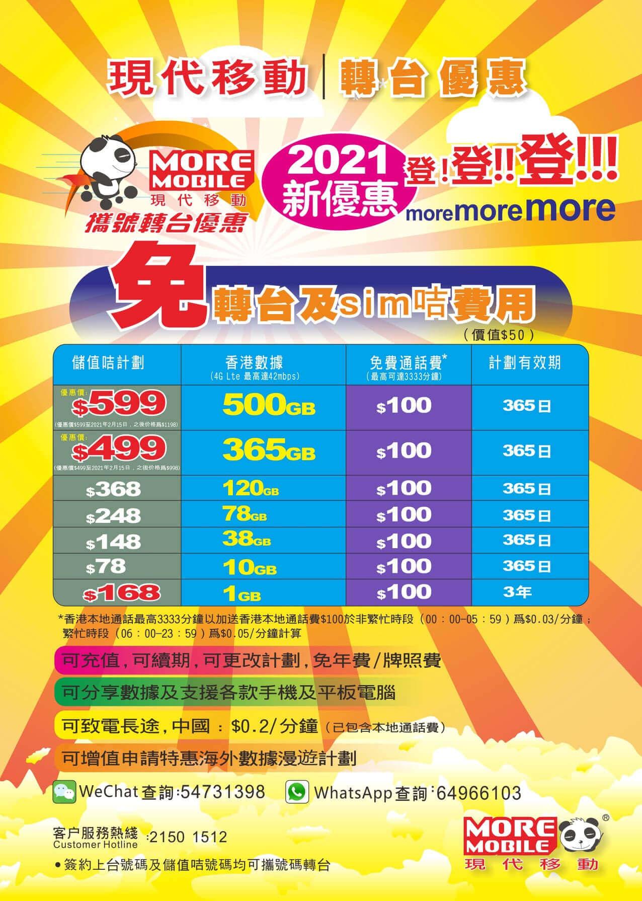 香港のMVNOキャリア、現代移動は500GB使えるプリペイドSIMカードを発売