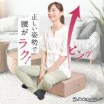 """リモワ対策とセットで腰痛対策も!座るだけで自然と姿勢がよくなる """"雲のやすらぎ クッション座布団""""が販売開始!"""