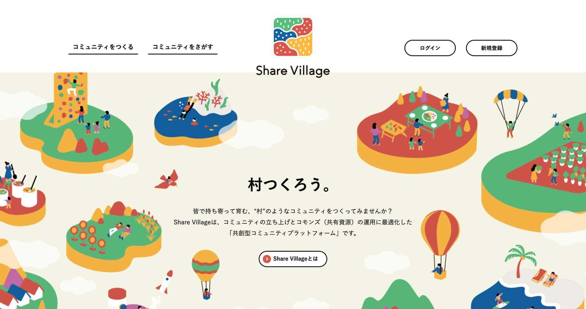 ShareVillage トップページ