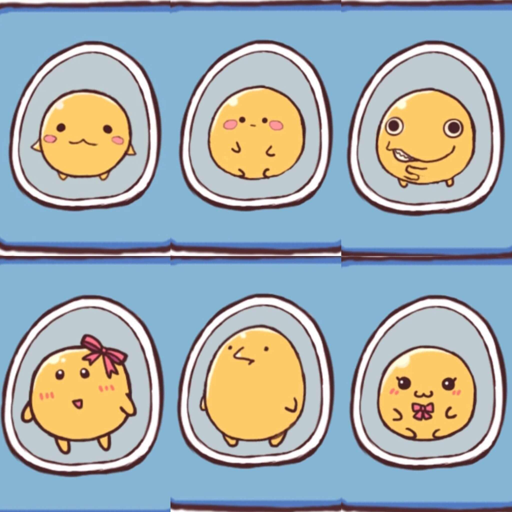 卵の黄身たち